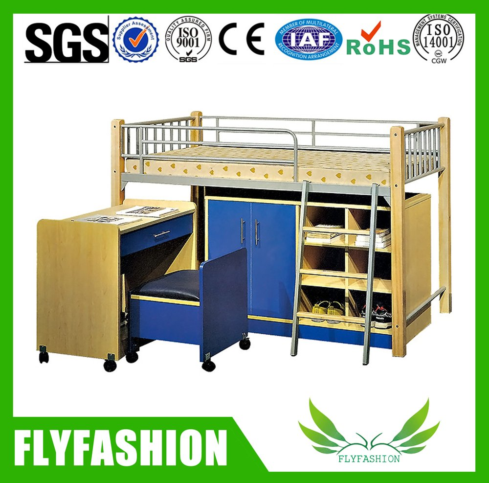 Flat Ladder Single Student Bunk Bed With Desk And Wardrobe Bd 12