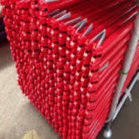 Ringlock Scaffolding Horizontal with Red Powder Coated
