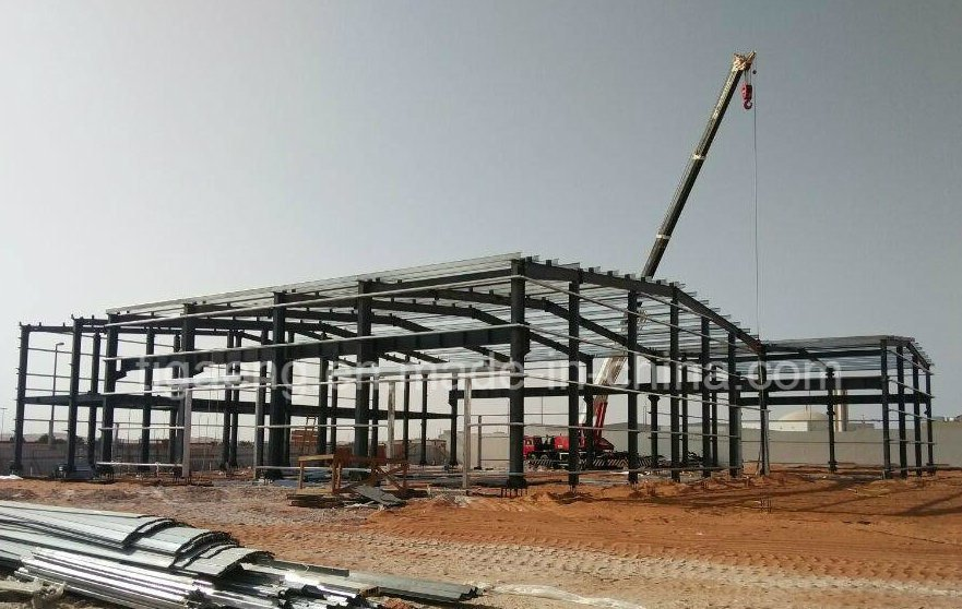 Prefabricated Steel Structure Supermarket/Shopping Mall/Office for Abidjan