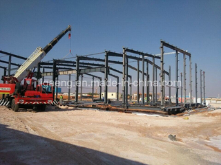 Multi Span Steel Structure Warehouse Steel Structure Workshop with Crane