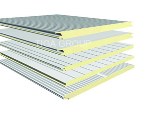 Insulated Fireproof Roof Rock Wool Sandwich Panels for Garage/Storage/Plants