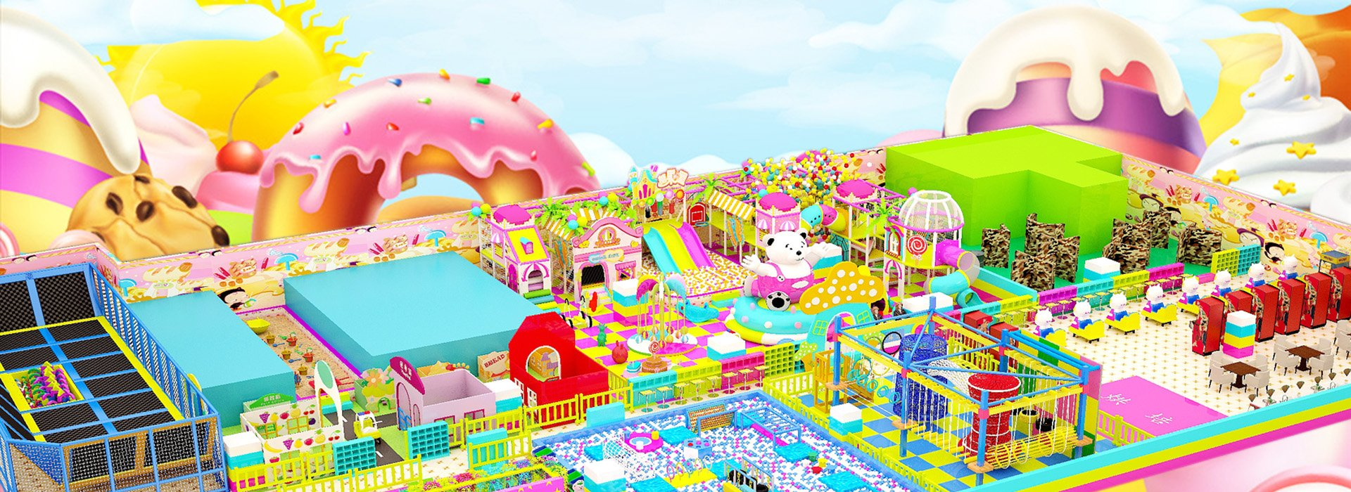 Candy Themed Soft Indoor Playground