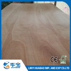Okoume Plywood BB/CC Grade Poplar Core E1 Glue