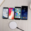 Leather Grains Supler Slim Wireless Charger Fast Charging Pad 9V 2A