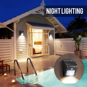 8 LED Light/Lamp Outdoor Solar Wall Light Waterproof Garden Lamp