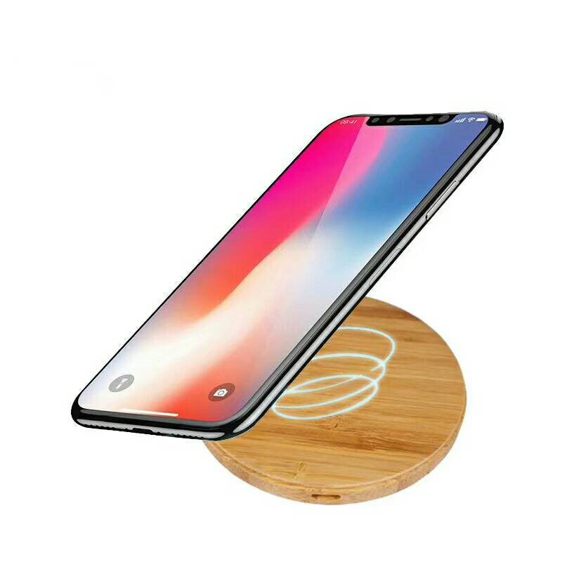 New Design Wooden Wireless Charger for Mobile Phone QI Wireless Charger Portable Universal Wireless Fast Charger for IPhone