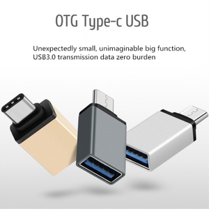USB 3.0 Type-C Adapter OTG USB Type C To USB3.0 Converter Adapter Mobile Phone Accessories Aluminum Alloy Type-C Adapter