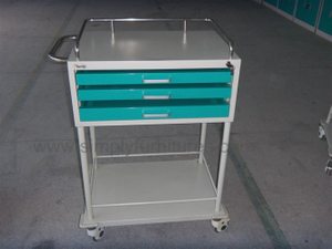 3 drawers medical equipment