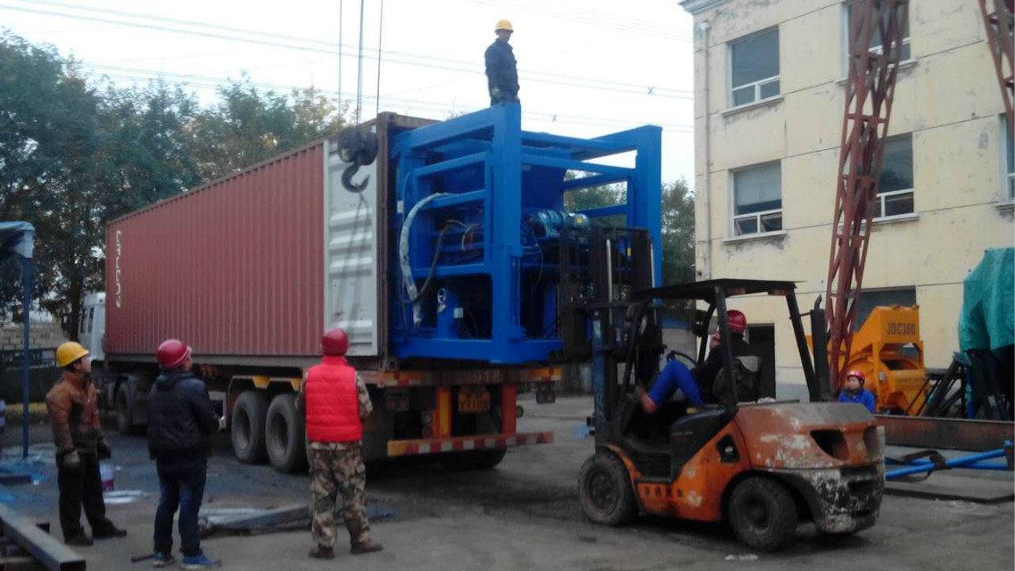 recipiente do carregamento do 块机装箱 QTY9-18 do 南美三台 9 a Ámérica do Sul (2)