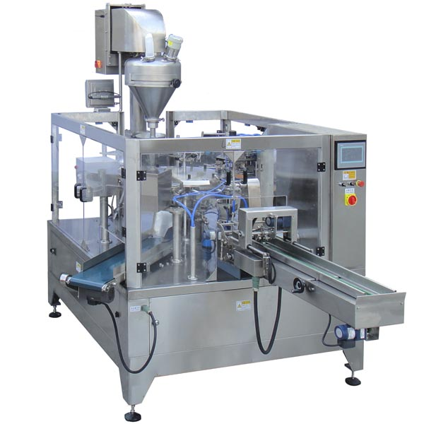 Doypack Machine with Auger Filler for Powder Packaging