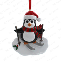 Skiing Penguin Ornament Personalized Christmas Tree Ornament
