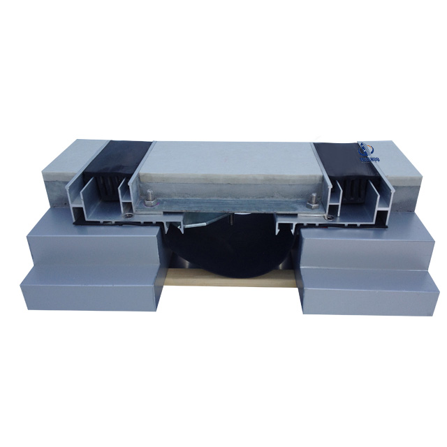 Floor to floor double rubber line aluminum expansion joint MSDSJH