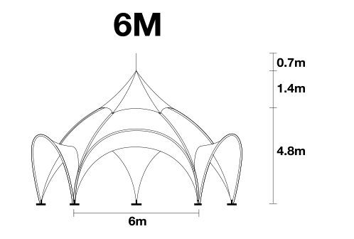 6m arch tent