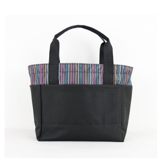 Portable Lunch Box Tote Cooler Bag Bento Pouch Container colorized Stripes