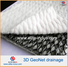 Tri-dimension composite geonet for drainage