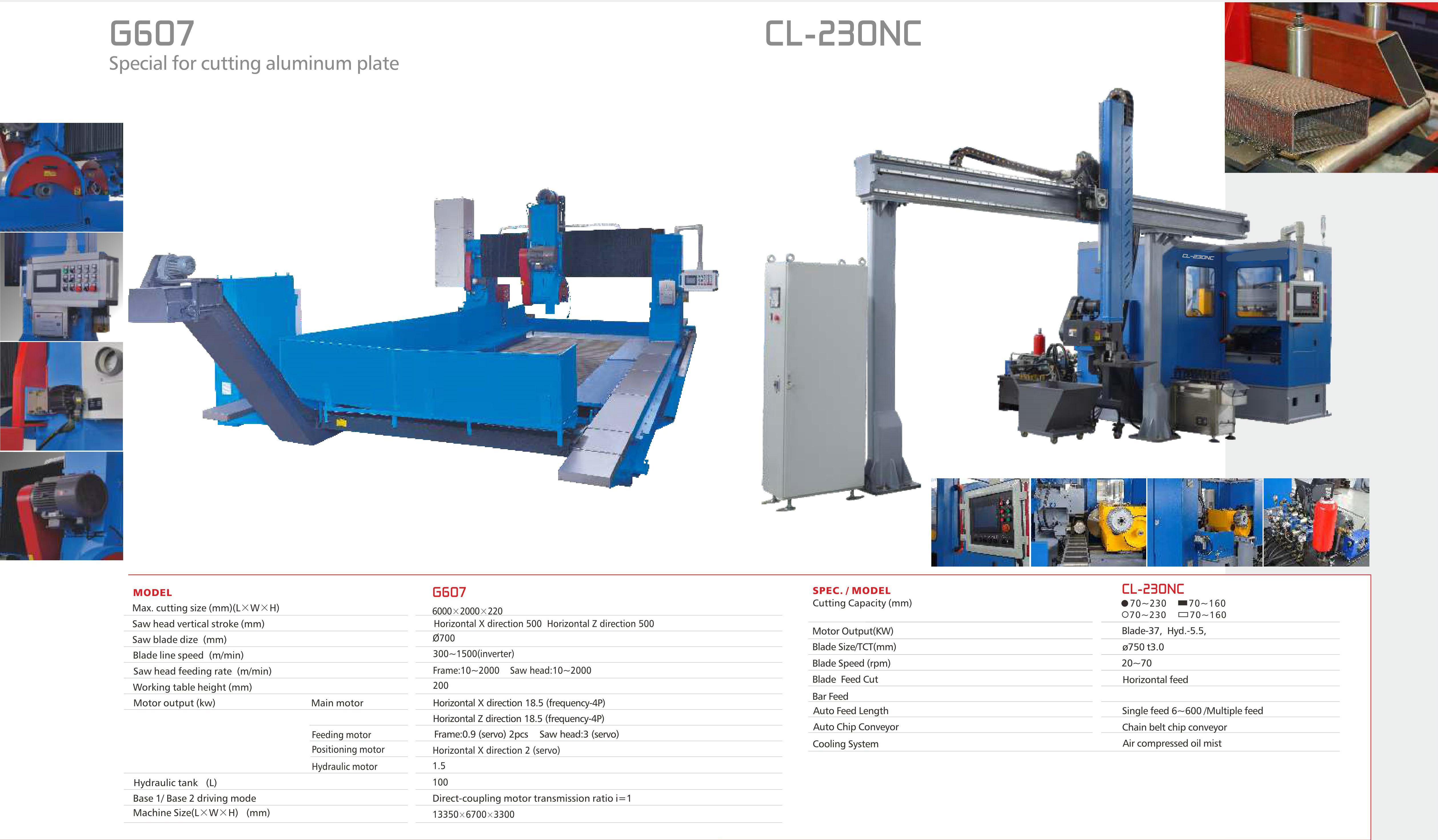 VERTICAL BLOCK/PLATE BAND SAWING MACHINE G607-CL230NC