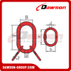 G80 / Grade 80 Power Plastified European Type Master Link Assembly para G80 Chains / Wire Rope Lifting Slings