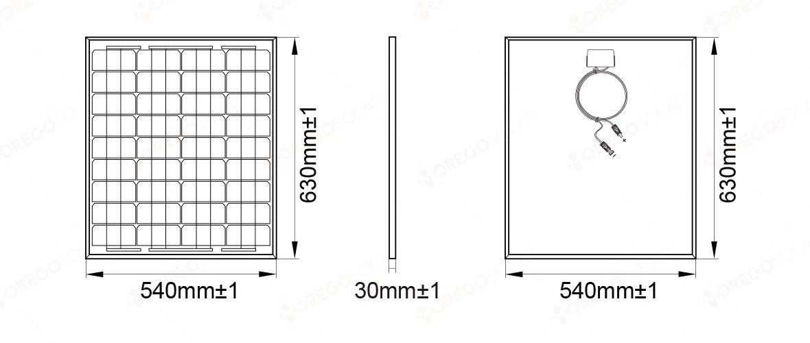 Mono Solar Panel 50w Nanjing Moge New Energy Co Ltd