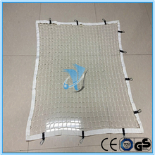 White pp knotless trailer cargo net