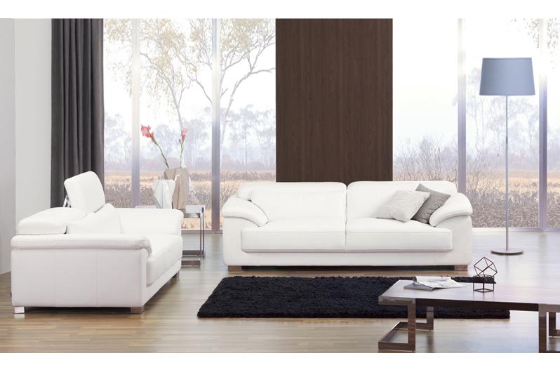 2017 italian new style metal frame modern white leather sofa set ...