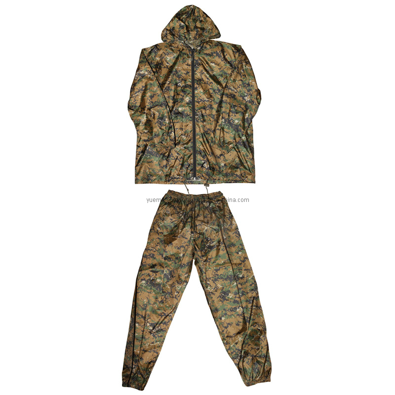 Army and Military Combat Woodland Digitcal Camo Rainsuit