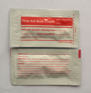 First aid burn cream