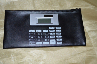 Bank Promotional Gift PU Purse Wallet Calculator