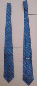 Staff Uniform Corporate Logo Jacquard 100% Silk Tie