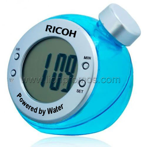 RICOH Creative Gift Novelty Carbon Zero Battery Free Water Powered Clock
