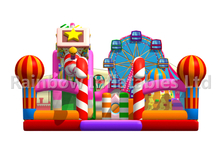 RB04124(9.5x10x5.3m) Inflatables Colorful candy castle park new design