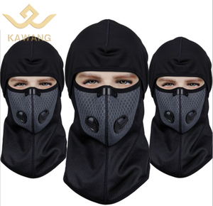 Kawang high quality windproof hooded balaclava face mask cap with filter