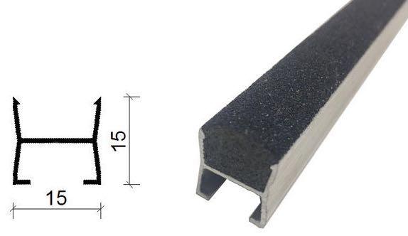 金刚砂地下室防滑坡道防滑条-15*15 mm-2