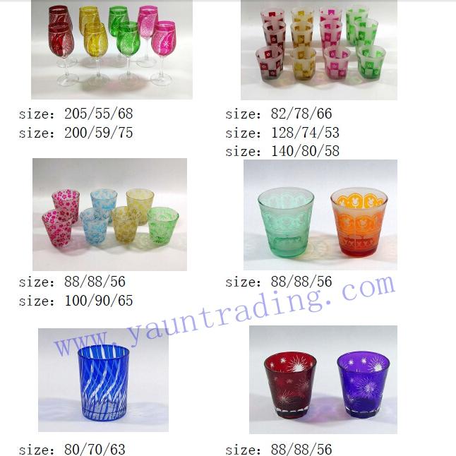 Yayun hand etched glass drinkware