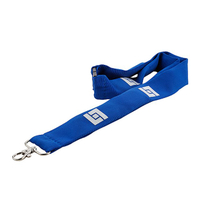 Custom logo free design polyester lanyard with metal hook for exhibition