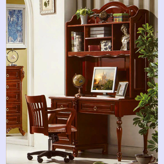 Computer Desk with Leather Sofa Chair for Home Office Furniture