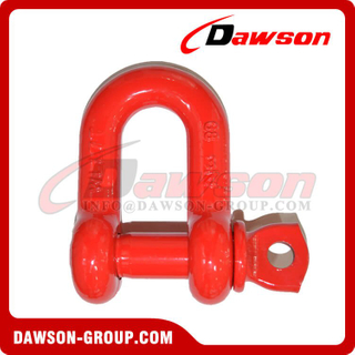 DS759 G8 Screw Type Alloy Dee Shackle, Chain Shackle com parafuso Pin for Lifting