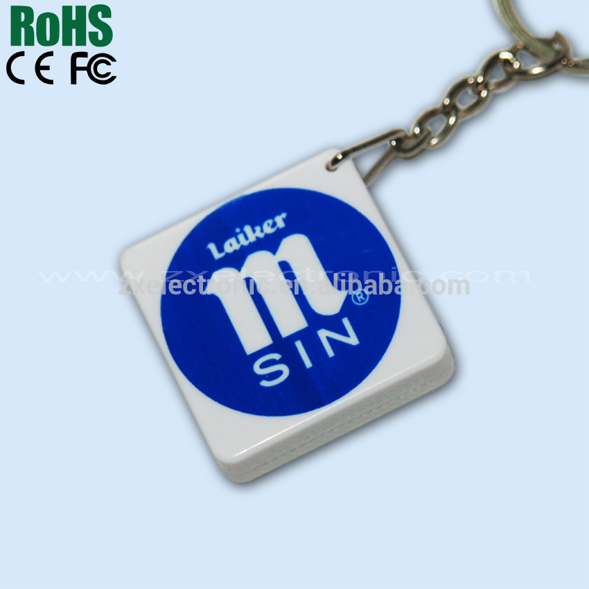 Custom sound effect keychain with recordable sound