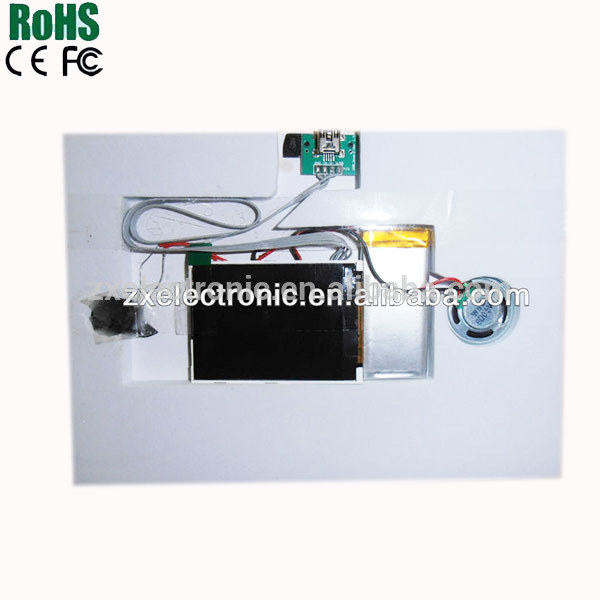Superior Quality Light Sensor LCD Video Module For Advertising Cards