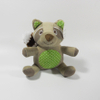 Mini Plush Raccoon Shaped Sound Chew Squeaker Interactive Pet Toy