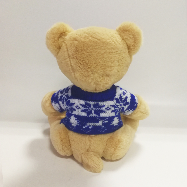 High Quality Teddy Bear Toys with Snowflake Pattern Sweater