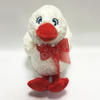 Customized Lovely Plush White Duck Animal Toy for Valentine