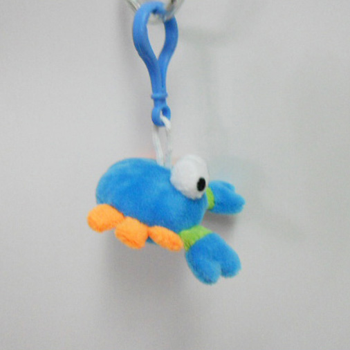 Custom Soft Plush Crab Toy Keychain