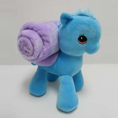 "Stuffed Soft Plush 11"" Little Pony Toy Baby Blanket"