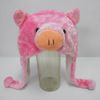 Soft Plush Toy Pink Pig Winter Hat for Kids