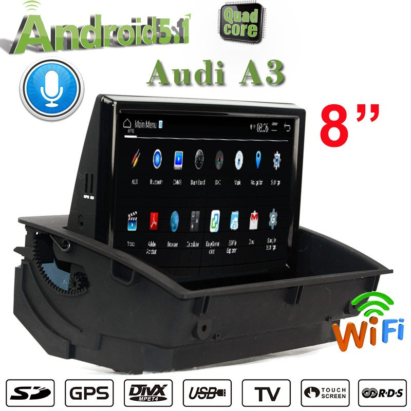 "8""Anti-Glare Car Stereo Audi A3 MMI 2G 3G Multimedia Gps Navigation 4G Wifi Touchscreen Carplay"