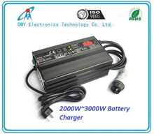 60V40A 3000W smart battery Charger electric Vehicle , electric sweeper, tour bus/sightseeing bus battery charger
