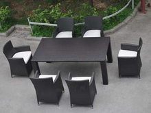 Patio Furniture Outdoor PE Rattan Dining Set Chairs and Table