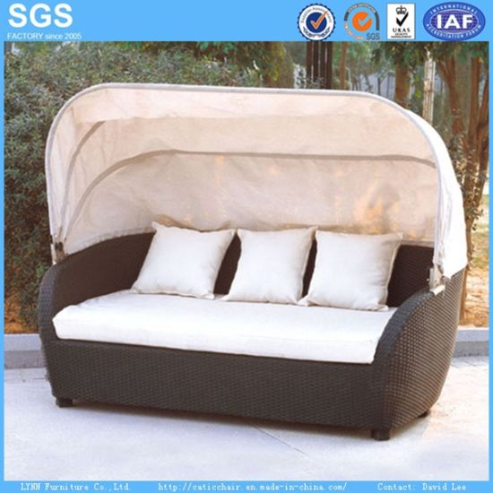 Outdoor Garden Furniture Sofa Bed with Canopy