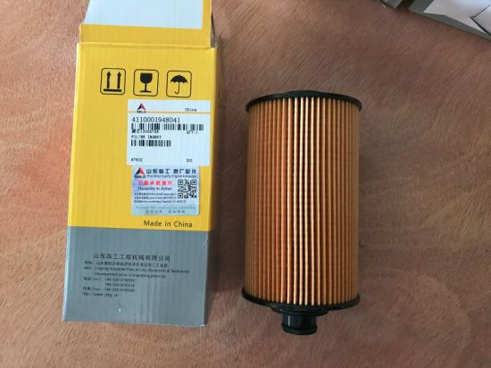 Sdlg LG958L Payloader Spare Parts Engine Oil Filters 4110000509164/4110001948041 for India Market