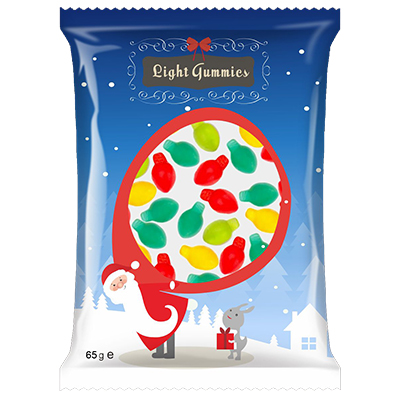Assorted Christmas Mini Lights Gummy